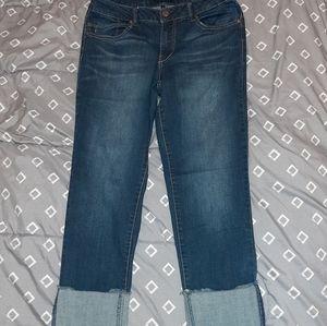Flaw 1822 Denim Rolled Cuff Crop Jeans Taylor 10